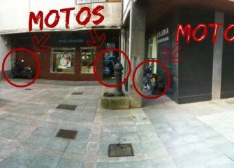 Antes era una Plaza, ahora un parking para motos.