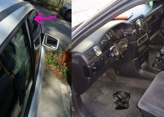 Destrozos en coches Prado Grande