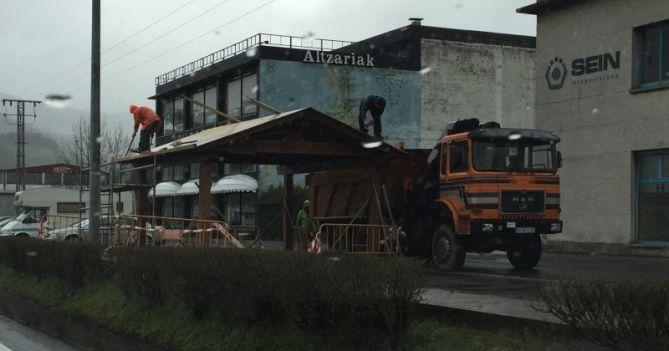 Obras en Azpeitia