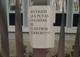 PROTESTA CONTRA CAGADAS DE PERROS