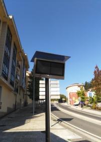 Panel electrónico de Lurraldebus que no funciona