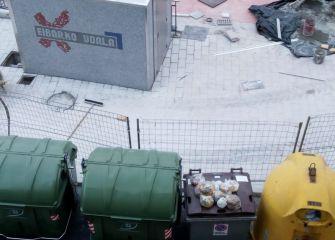 Obra nueva, contenedores viejos en Amaña