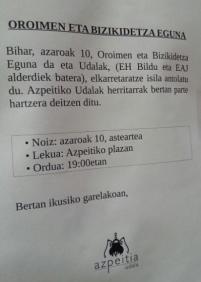 Folletos informativos solo en Euskera.