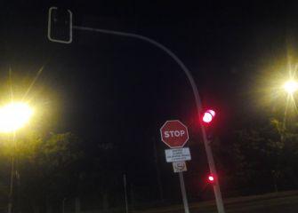 Semáforo averiado