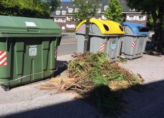 Los residuos de poda siguen en Bera Bera 80