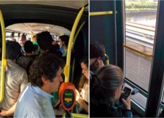 Autobuses llenos a 80 km/h