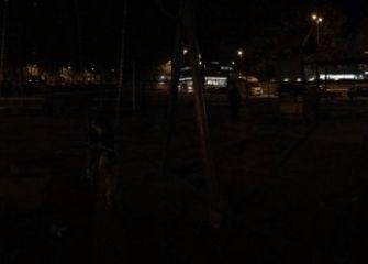 Parque Aitor Zabaleta sin iluminación