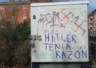 Pintadas fascistas en Txomin
