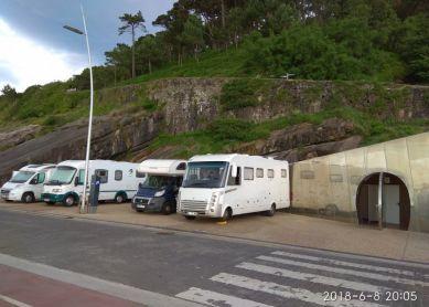 Parking de caravanas en el Paseo Nuevo