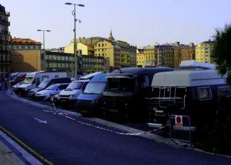 Parking para campistas en Sagüés