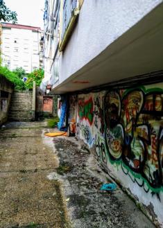 Plaza abandonada en Egia