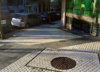 Pavimento deslizante en el barrio de Gros