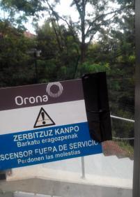Ascensor  inclinado de Izostegi: Sigue fuera de servicio desde miércoles 10 de julio