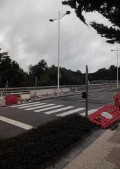 Obras interminables semáforo al comienzo   del vial Paseo de Izostegi 20009  Donostia San Sebastián, Guipúzco